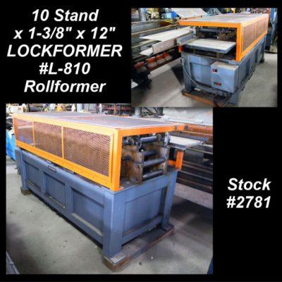 10 Stand x 1-3/8″ x 12″ LOCKFORMER #L-810 Rollformer