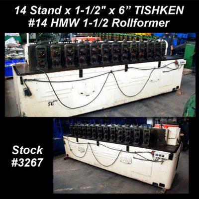 14 Stand x 1-1/2″ x 6″ TISHKEN #14 HMW 1-1/2 Rollformer