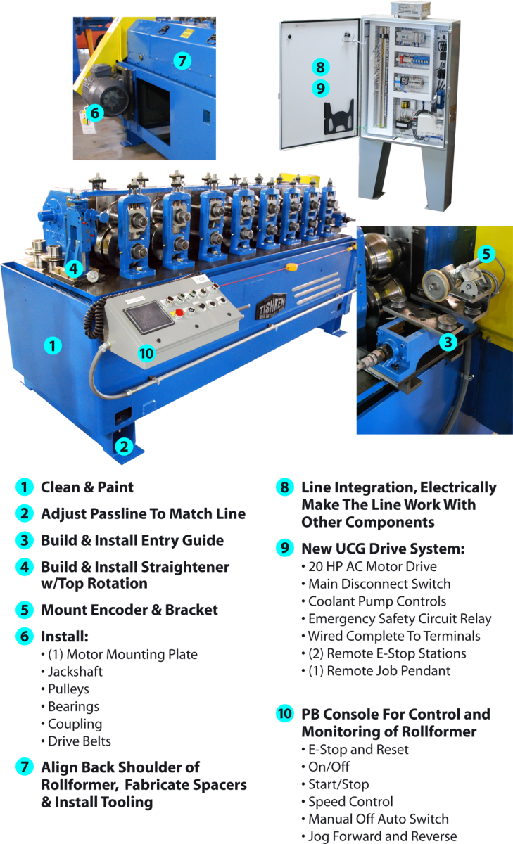 reconditioned roll form line