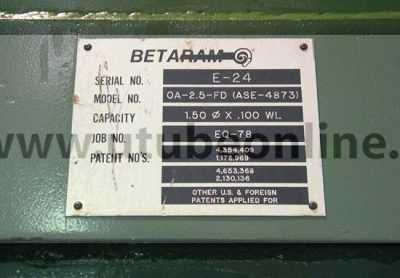 betaram cut off arm dataplate