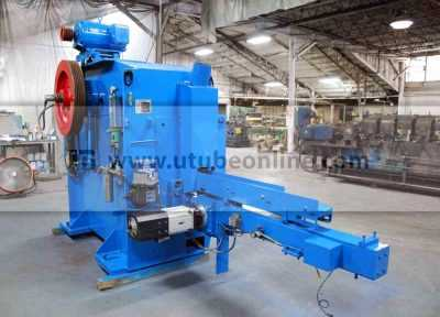 length control system for tube cut off machine