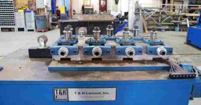 Used 7-roll tube straightener