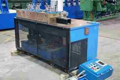 Used 7-roll tube straightener Encoder