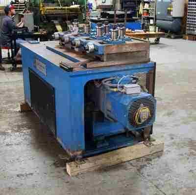 Used 7-roll tube straightener 10 HP Motor