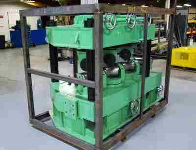 Used Pipe Straightener with Vertical Upper Roll Adjustment