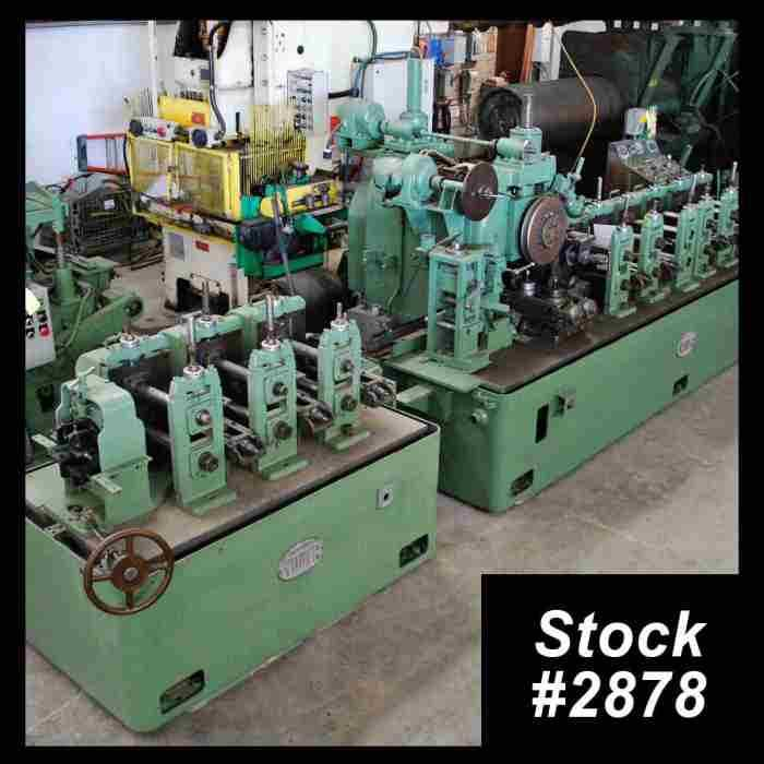 Yoder M2 Erw Tube Mill Line For Sale Used 2 1 2 Quot X 095 Quot