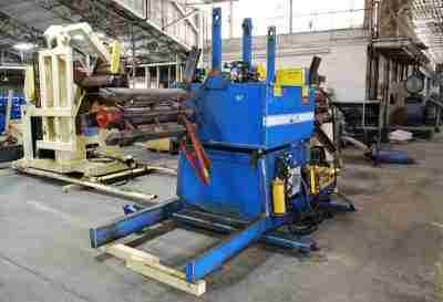 Press Room Equipment Double Uncoiler 36 Inch Width