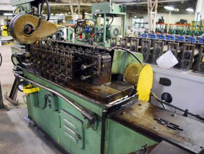 Used Tishken Rollformer with 5 Ton Cut Off Press